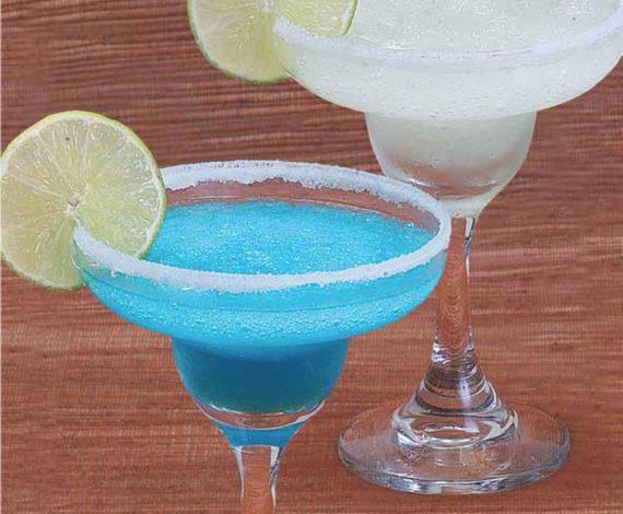 Margarita Tradicional y Margarita Blue